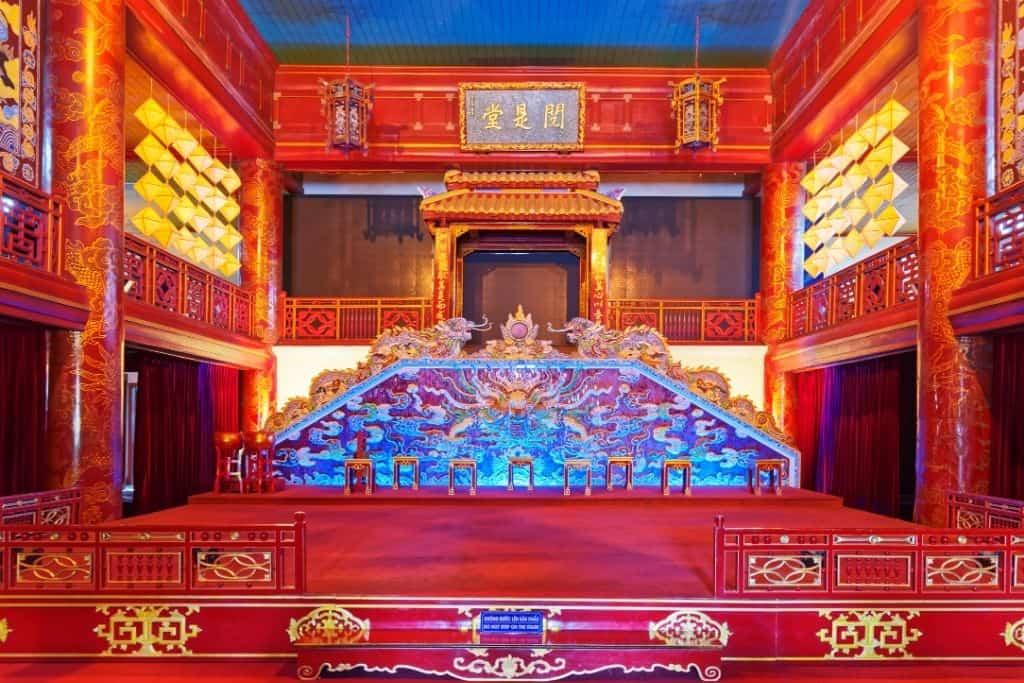 Het konklijk theater aan de binnenkant vietnam Hué